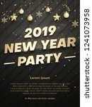 new year 2019 party poster or... | Shutterstock .eps vector #1241073958