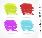 set of grunge colorful... | Shutterstock .eps vector #124107472