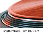vinyl record rotate. a ray of... | Shutterstock . vector #1241078575
