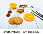 gingerbread cookies  slices of... | Shutterstock . vector #1241081332