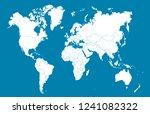 color world map vector | Shutterstock .eps vector #1241082322