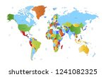 color world map vector | Shutterstock .eps vector #1241082325
