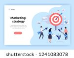 marketing strategy concept... | Shutterstock .eps vector #1241083078