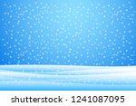 snowfall and drifts. vector... | Shutterstock .eps vector #1241087095