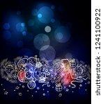 illustration for merry... | Shutterstock . vector #1241100922