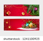 set  illustration for merry... | Shutterstock . vector #1241100925