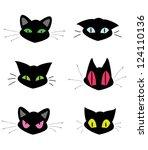 Set Of Cat Head Icons