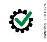 cog check icon. check mark in... | Shutterstock .eps vector #1241119978