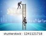 concept of mentorship in... | Shutterstock . vector #1241121718