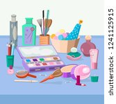 perfume and cosmetics set | Shutterstock .eps vector #1241125915