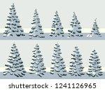 set of vector simple... | Shutterstock .eps vector #1241126965