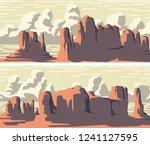 set of vector stylized banner... | Shutterstock .eps vector #1241127595