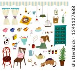 kitchen accessories and...   Shutterstock .eps vector #1241127688
