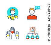 resume color icons set.... | Shutterstock .eps vector #1241130418