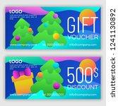 gift voucher template. vector... | Shutterstock .eps vector #1241130892