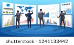 concept of business charts and... | Shutterstock . vector #1241133442