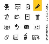 office icon set | Shutterstock .eps vector #1241146552