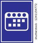 calendar icon in trendy flat... | Shutterstock .eps vector #1241154772