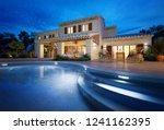 external view of a modern house ... | Shutterstock . vector #1241162395