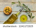 olives and olive oil | Shutterstock . vector #1241172325