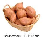 Sweet Potatoes In Bamboo Basket ...