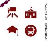 academic icon. academic vector...   Shutterstock .eps vector #1241174992