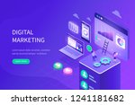 digital marketing concept. can... | Shutterstock .eps vector #1241181682