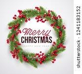 merry christmas background.... | Shutterstock .eps vector #1241183152
