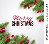 merry christmas background.... | Shutterstock .eps vector #1241183155