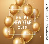 happy new year 2019 background... | Shutterstock .eps vector #1241183575