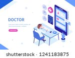 online doctor at work can use... | Shutterstock .eps vector #1241183875