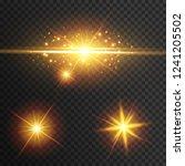 light effect glow. star flashed ... | Shutterstock .eps vector #1241205502