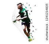 rugby player running with ball  ... | Shutterstock .eps vector #1241214835