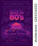 back to 80's neon style poster... | Shutterstock .eps vector #1241216332