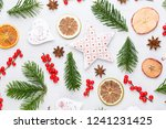 christmas composition. gifts ... | Shutterstock . vector #1241231425