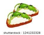 beautifully plated avocado... | Shutterstock .eps vector #1241232328