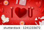 happy valentine's day holiday... | Shutterstock .eps vector #1241233672