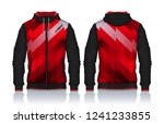 hoodie shirts template.jacket... | Shutterstock .eps vector #1241233855