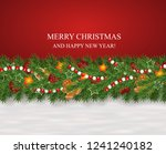 christmas and new year snowy... | Shutterstock .eps vector #1241240182