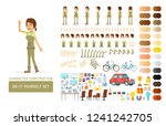 vector young adult woman in... | Shutterstock .eps vector #1241242705