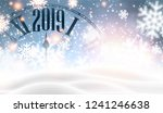 christmas and new year 2019... | Shutterstock .eps vector #1241246638