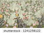 3d wallpaper design with...   Shutterstock . vector #1241258122