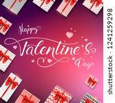 happy valentines day.... | Shutterstock .eps vector #1241259298
