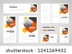 abstract hexago theme set flyer ... | Shutterstock .eps vector #1241269432