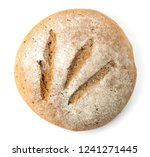 fresh baked bread on white... | Shutterstock . vector #1241271445