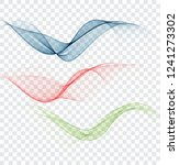 abstract wavy lines in the form ... | Shutterstock .eps vector #1241273302