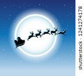 vector illustration of santa...   Shutterstock .eps vector #1241274178