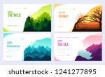 nature vector brochure cards... | Shutterstock .eps vector #1241277895