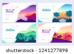 nature vector brochure cards... | Shutterstock .eps vector #1241277898