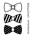 set of bow tie vector isolated... | Shutterstock .eps vector #1241279338
